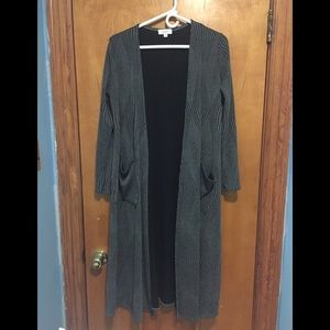 LulaRoe Sarah Duster Dark Gray